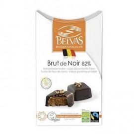 Cuadrados Brut de Noir de Cocolate Negro al 82% Belvas 100g