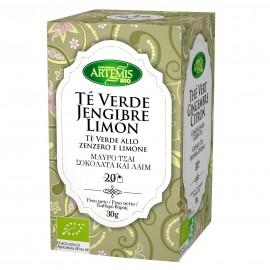 Te Verde con Jengibre y Limón Premium 20 filtros 40g