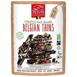 Láminas de Chocolate Negro con Bayas de Goji y Quinoa Bio 120g