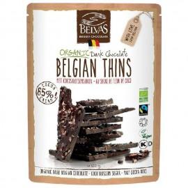 Láminas de Chocolate Negro con Coco y Cacao Nibs Bio 120g