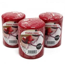 Vela Cilindro Pequeña Frutos Rojos