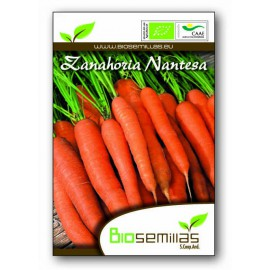 Semillas Ecológicas de Zanahoria Nantes