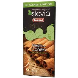 Chocolate con Stevia Negro con Canela Sin Gluten Convencional 125g