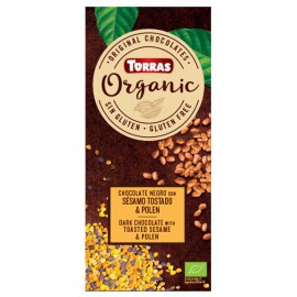 Chocolate Orgánico con Sésamo y Polen Sin Gluten Bio 100g