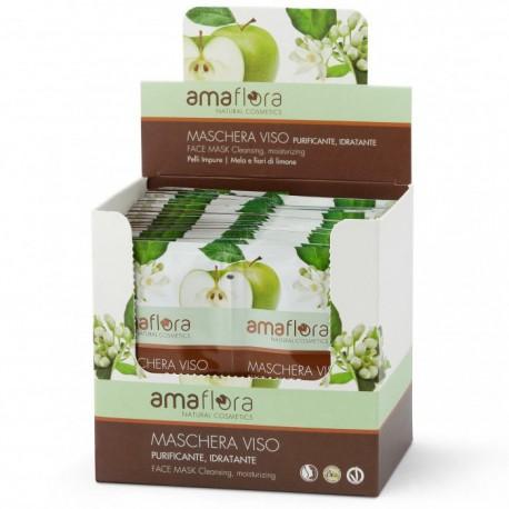 Caja Mascarillas Faciales Purificante Manzana y Flores de Limón Bio 20uds x 20ml