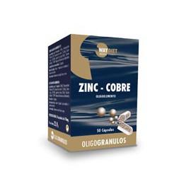 Zinc + Cobre Oligogránulos 50 Cápsulas