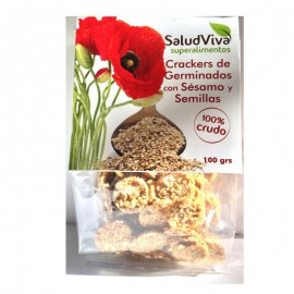 Cracker de Sésamo Germinado y Semillas 100 gr