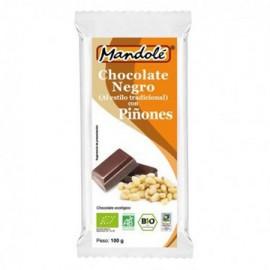 Chocolate Negro 60% con Piñones Bio 100g