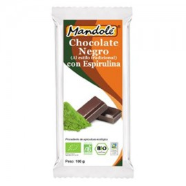 Chocolate Negro 65% con Espirulina Bio 100g