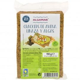 Galletas de Avena Linaza y Algas Sin levadura Bio 190g