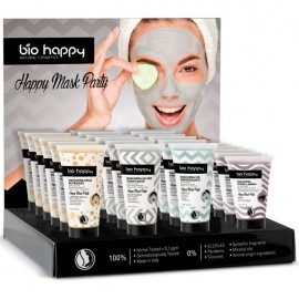 Expositor Bio Happy Mascariilas Mask Party 15 ud y 3 Testers