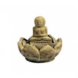 Quemador de Incienso Buda de Esteatita Natural 5X4cm