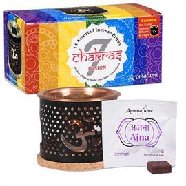 Aromafume 7 Chakra SET Difusor con ladrillos de Incienso