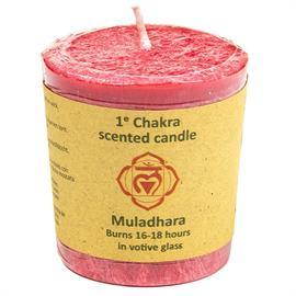 Vela Votiva Perfumada 1er Chakra Muladhara