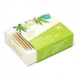 Bastoncillos para los Oídos de Bambú y Algodón Biodegradables 100ud