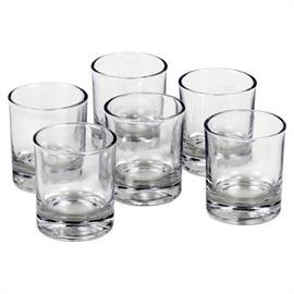 Vasos de Vidrio para Velas Votiva y de Té 6x5cm PACK 6 uds