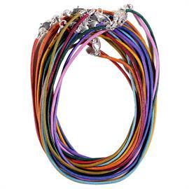 Collar de Cuero con Cierre de Mosquetón Multicolor 45cm