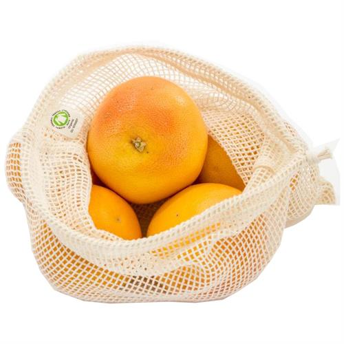 Bolsa de Red para la Fruta M 25x30 Algodón Orgánico