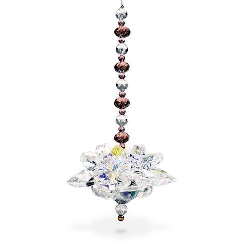 Colgante de Cristal Feng Shui Loto 10cm
