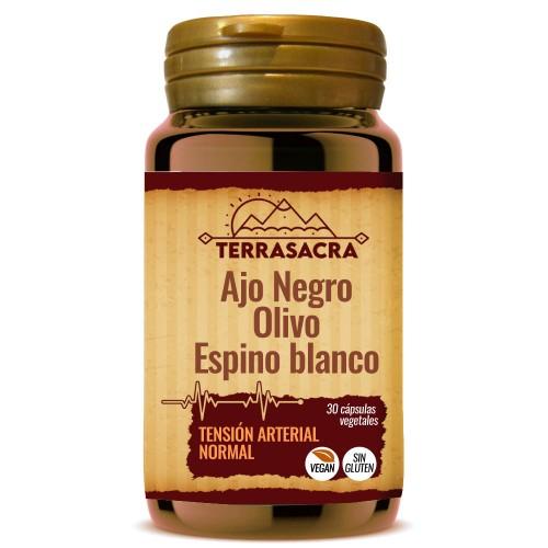 Ajo Negro Olivo y Espino Blanco Tensión Terrasacra 30 Cápsulas