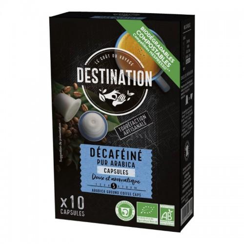 Cápsulas Descafeinado Compostable Bio 10 cáps Destination