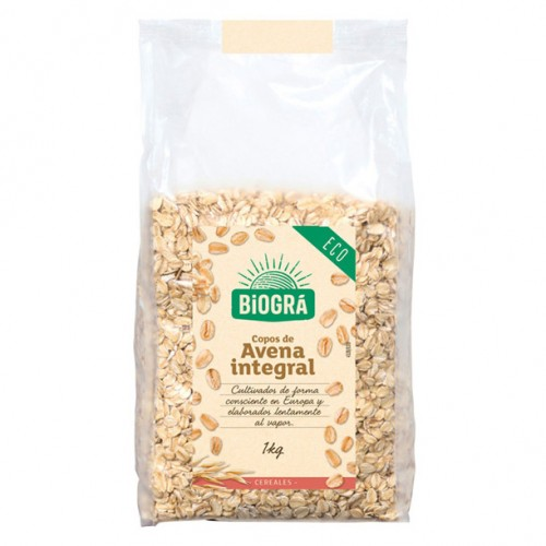 Copos de Avena Gruesos Integrales Bio 1kg