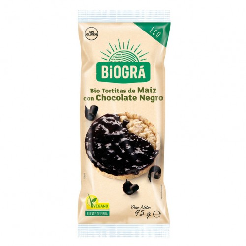 Tortitas de Maíz con Chocolate Negro Bio 95g