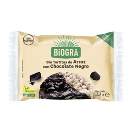 Tortitas de Arroz con Chocolate Negro Monodosis Bio 33g