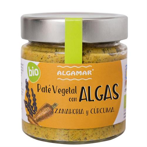 Paté Vegetal con Algas Zanahoria y Cúrcuma Bio 180g