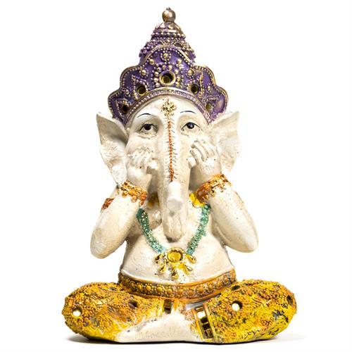 Estatua de Yoga Ganesh 15x11,5x21,5cm