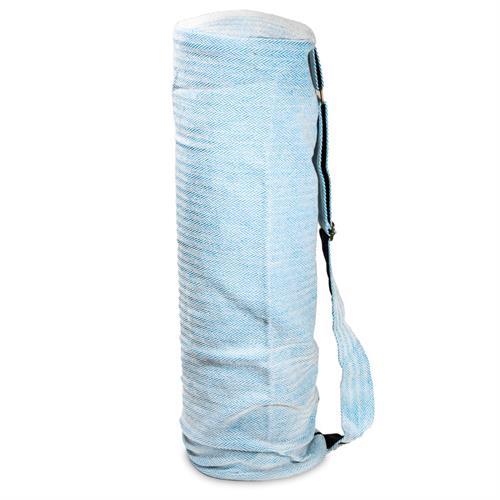 Bolsa de Yoga de Algodón Turquesa 65x19cm