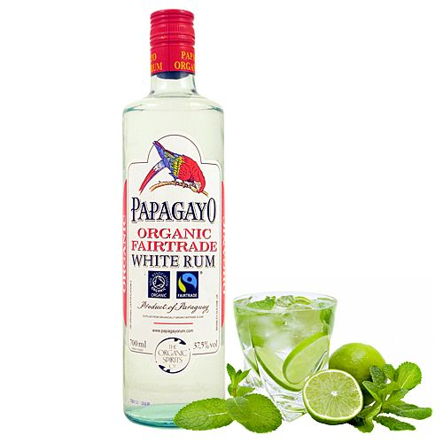 Ron Papagayo Blanco Bio 70 cl