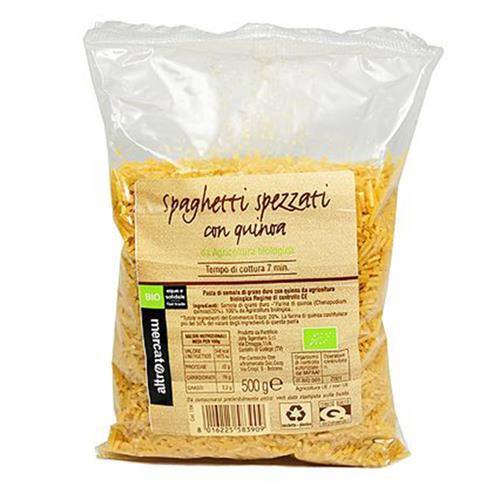 Fideos Cortos con Quinoa Altromercato Bio 500g