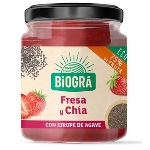 Mermelada de Fresa y Chía con Sirope de Agave Biográ Bio 200g