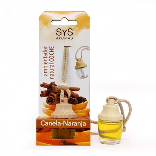 Ambientador Natural para Coche Canela y Naranja SYS 7ml