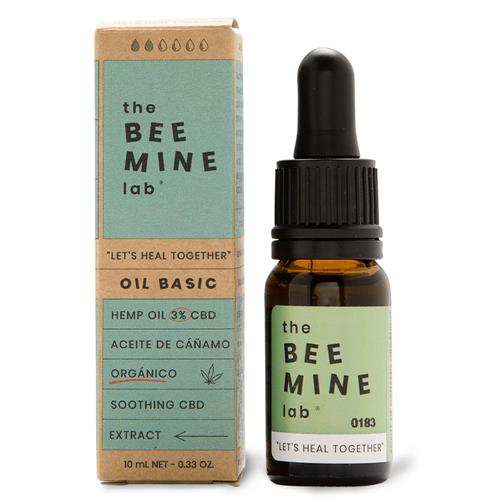 Aceite de Cáñamo Orgánico Básico CBD 3% The Bee Mine Lab 10ml