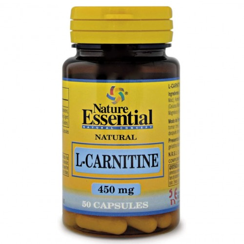 L-Carnitina Nature Essential 50 Cápsulas de 450mg