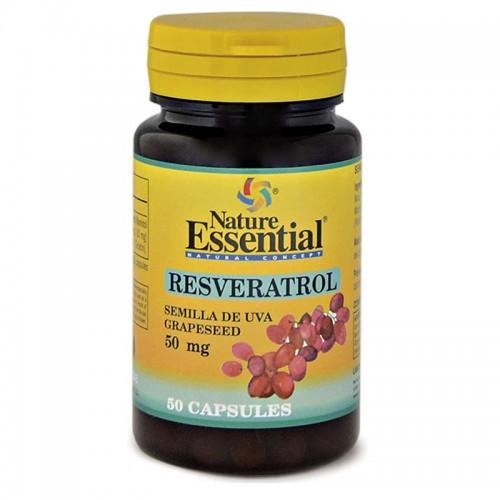 Resveratrol Aceite de Semillas de Uva Nature Essential 50 Cáps de 50mg