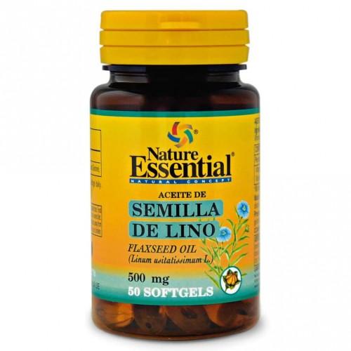 Aceite de Semilla de Lino Nature Essential 50 Cápsulas de 500mg