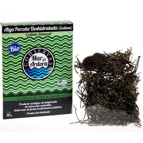 Codium Alga Percebe Deshidratada Bio Mar de Ardora 30g