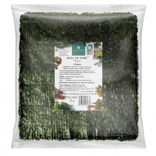 Alga Nori 6 Hojas PortoMuiños Bio 15g
