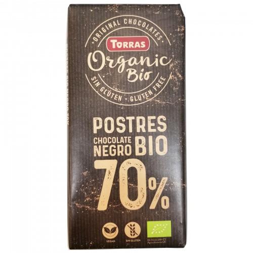 Cobertura de Chocolate al 70% para Postres Bio 200g