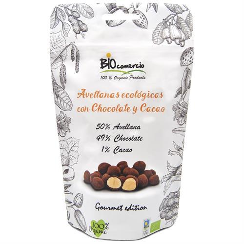 Avellanas con Chocolate y Cacao BioComercio Bio 100g