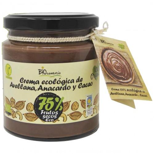 Crema de Avellana Anacardo y Cacao Biocomercio Bio 200g
