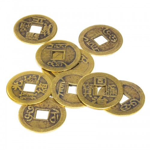 Monedas de la Suerte del Feng Shui Chino 10 Monedas