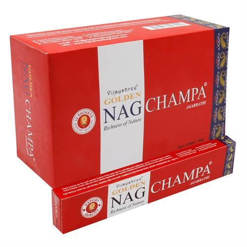 Incienso Nag Champa 15g Vijayshree GOLDEN