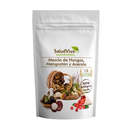 Mezcla de Hongos, Mangostán y Acerola Bio 125g