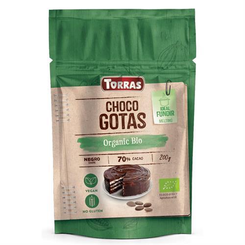Gotas de Chocolate al 70% para Cobertura y Postres Bio 200g