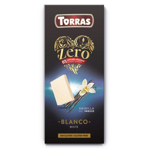 Chocolate ZERO Sin Azúcar Blanco con Vainilla Convencional 150g