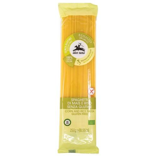 Espaguetis de Maíz y Arroz Sin Gluten Bio 250g